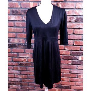Lilly Pulitzer Black 3/4 Sleeve Pleated Dress